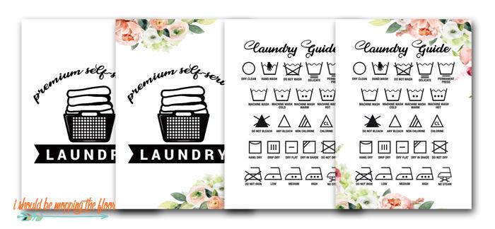 Free Laundry Room Printables
