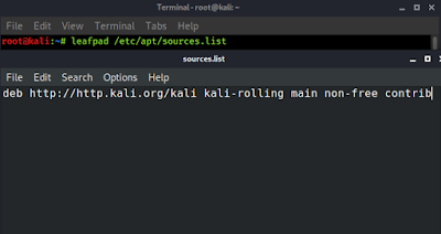kali linux official repository