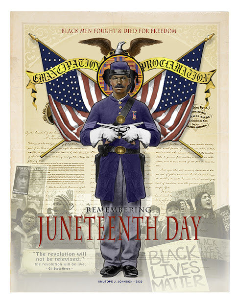 Juneteenth Commemorative Poster • 16Wx20H
