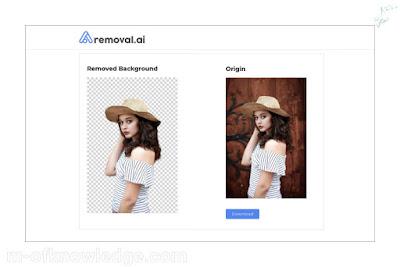 موقع رموفل دوت اي آي removal.ai لإزالة خلفية الصورة اون لاين online