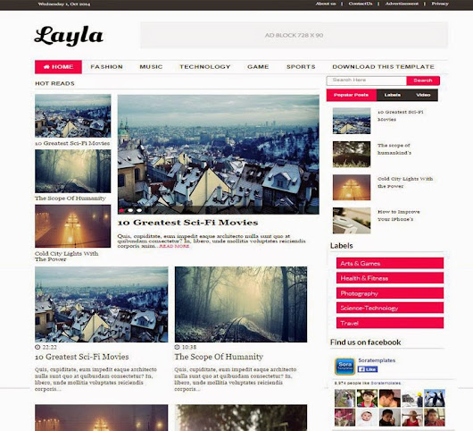 Layla Blogger Theme - Best Blogger Themes()