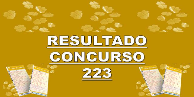 Sorteio 223 resultado dia de sorte os 7 números sorteados
