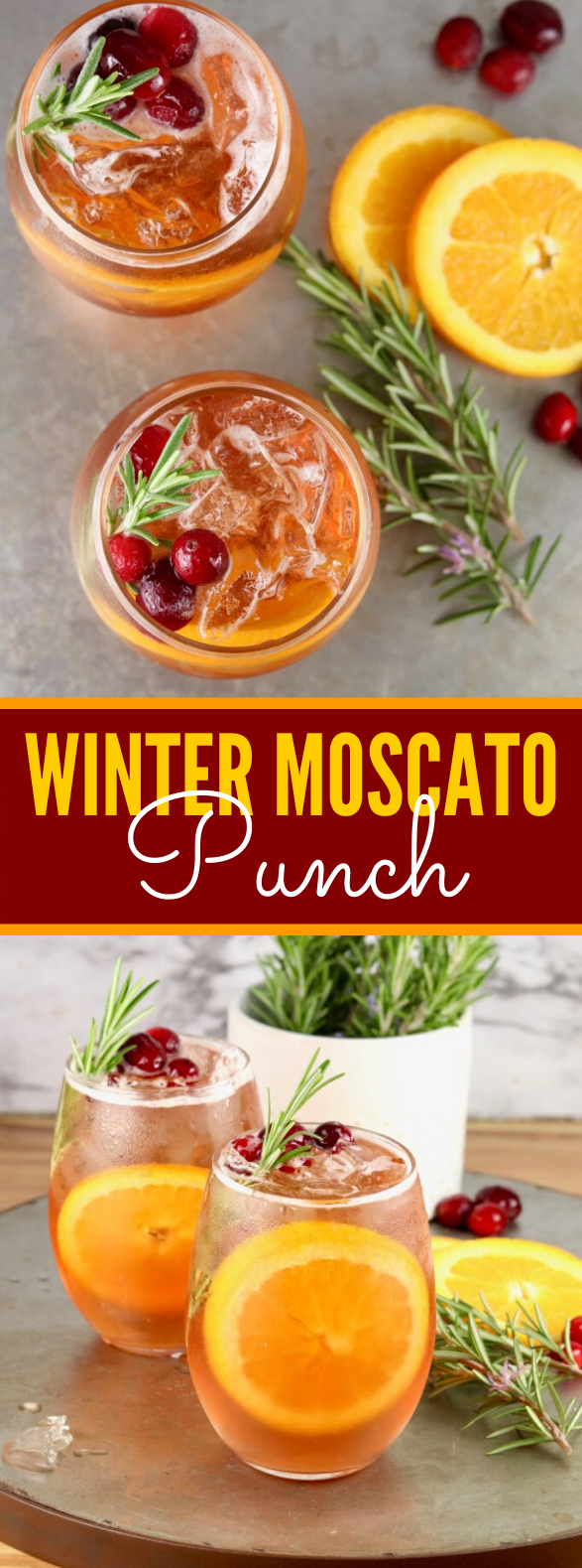 Winter Moscato Punch #drinks #sangria