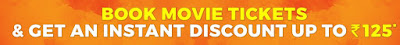 Bookmyshow offer to get 90% discount on 2 tickets.here is the trick to get 2 movie tickets at 25rs only worth rs 250rs
