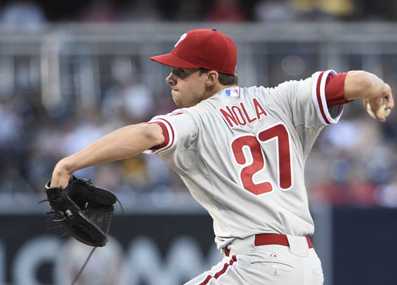 Aaron Nola has struggled for the Phillies in each of his four starts