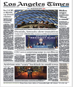 Los Angeles Times Magazine 10 November 2020 | Los Angeles News | Free PDF Download