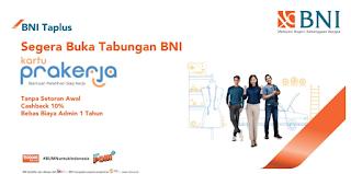 LOGIN e-form.bni.co.id, Buka Rekening BNI Tabungan Prakerja