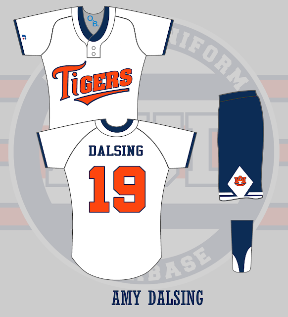 auburn softball uniform 1999
