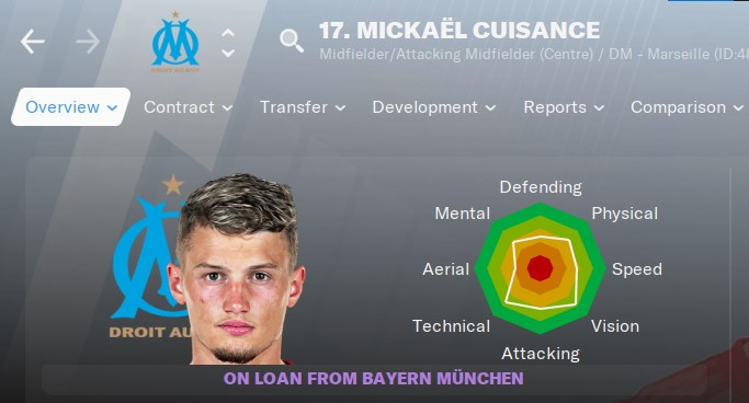 Mickael Cuisance Football Manager 2021 FM21 FM2021