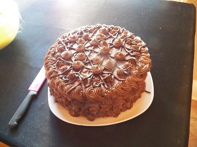 Three Way Chocolate Cake