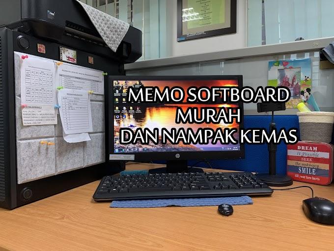 Memo Notice Board Murah Tapi Nampak Kemas
