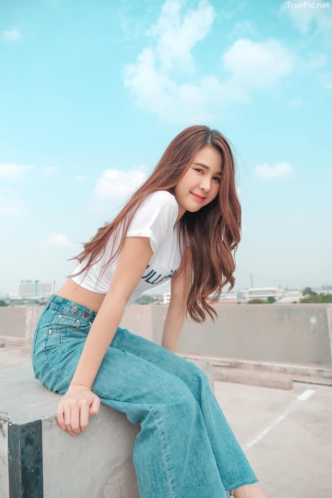Thailan cute model - Supansa Yoopradit (Lorpor) - The terrace is full of windy afternoon - Picture 6