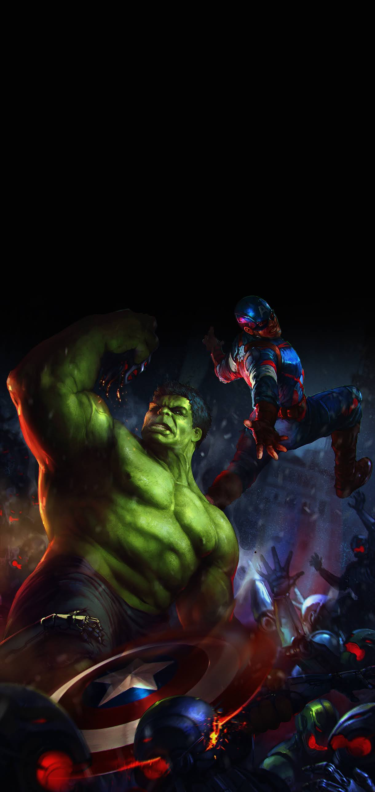 hulk and captain america fighting in avengers