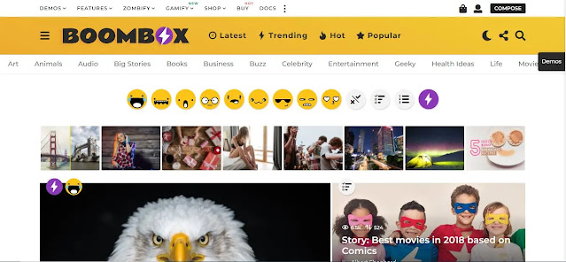 Create a Viral Website for Adsense Arbitrage: BoomBox Theme