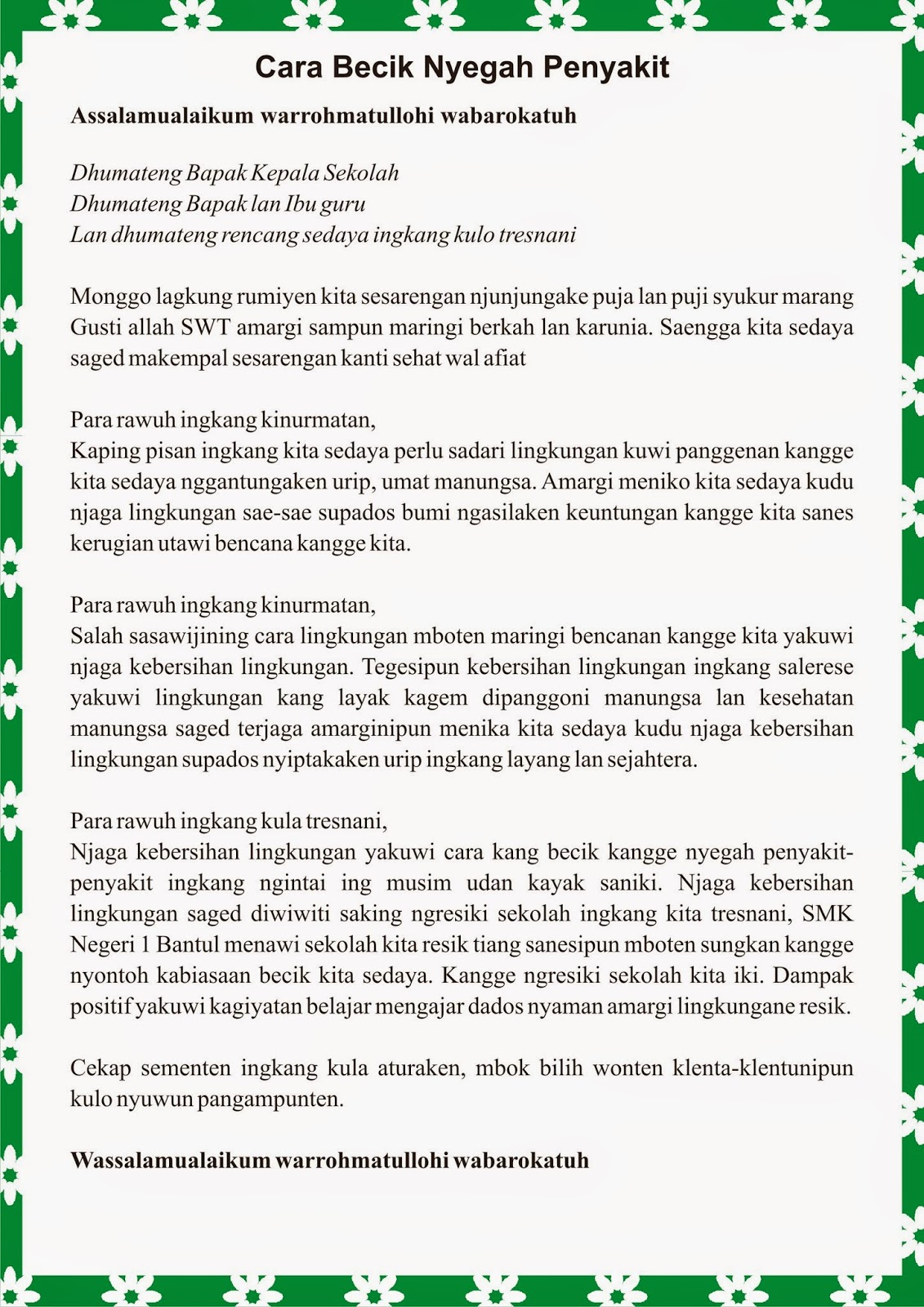 Contoh Artikel Kesehatan Menggunakan Bahasa Jawa Mathieu Comp Sci
