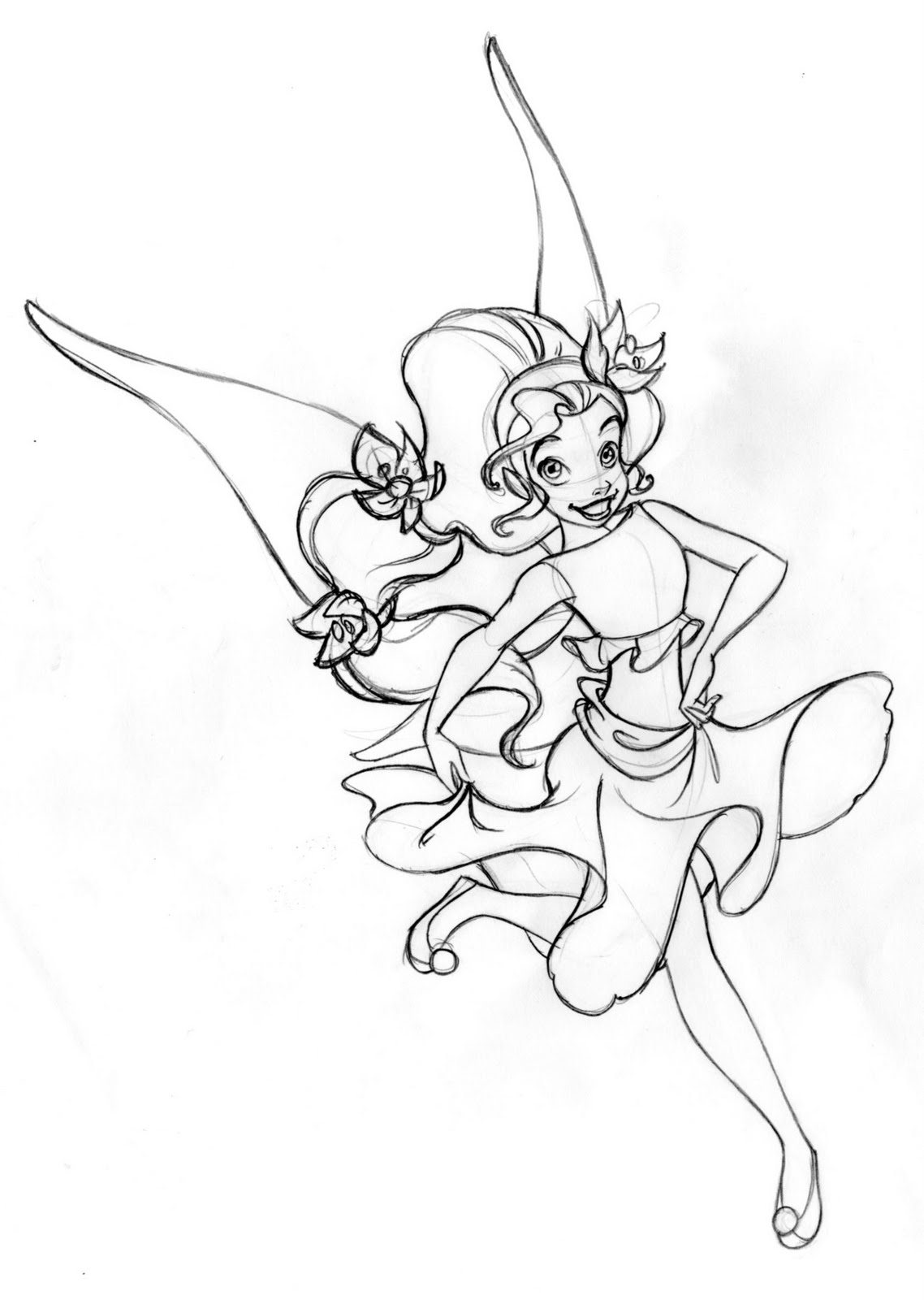 Disney Fairies character layouts