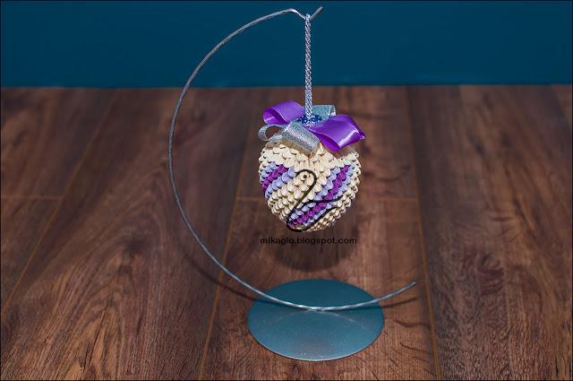 697. Bombka z origami / 3d origami christmas bauble
