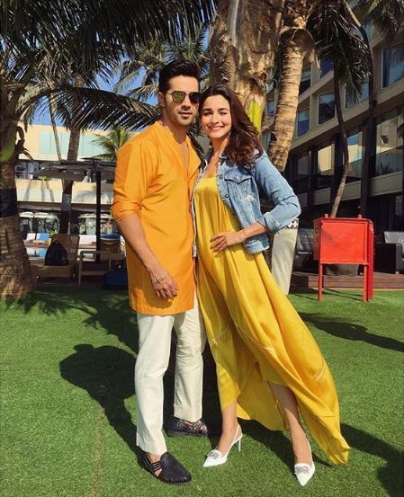 Alia Bhatt Wear High-Low Dresses With Denim Shirt
