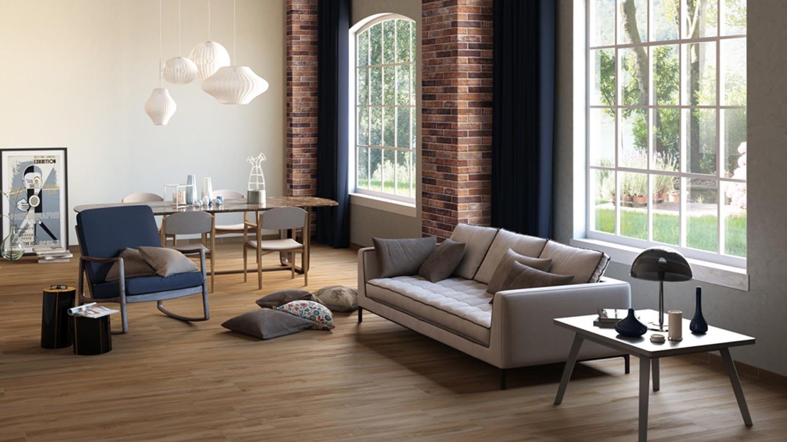 Wall Tiles Designs For Living Room Traditional Warmth Of Oak With Decape Tiles Collection Floor