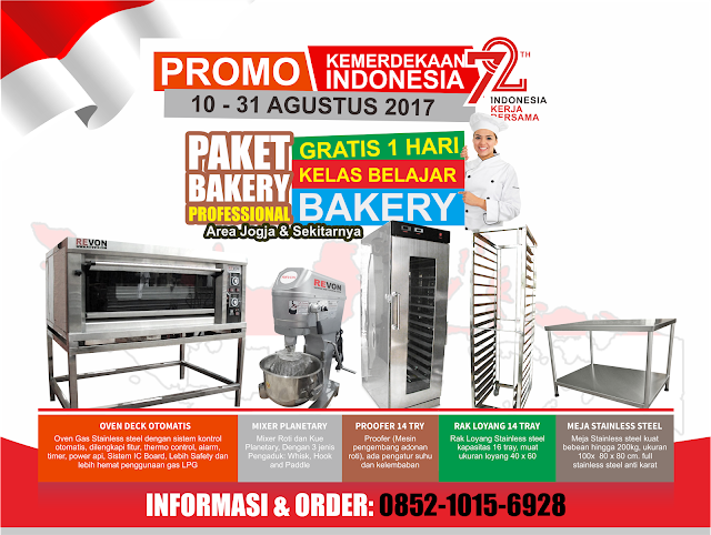Jual Perlengkapan bakery Bonus Kursus Bakery 1 Hari
