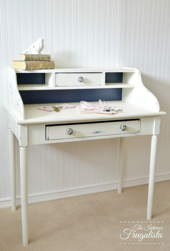 Curbside Rescued Secretary Desk Makeover