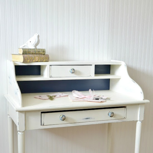 A Curbside Rescued Secretary Desk Makeover