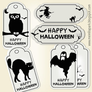 Free printable Halloween stickers and papers - Halloween Druckvorlagen - freebie