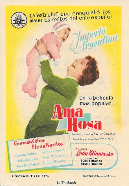 Ama Rosa - Programa de Mano - Imperio Argentina - Germán Cobos