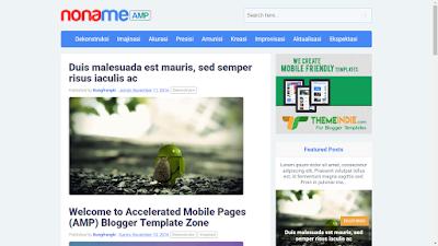 Noname AMP Blogger Template