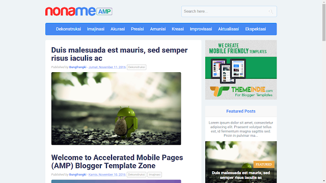 templates alongside these templates yous tin growth your website or spider web log loading speed alongside t 10 Best Google AMP Blogger Templates 2019 (SEO Friendly)