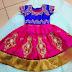 Pink Work Lehenga Kundan Kids Blouse
