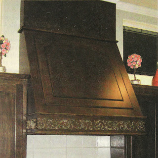 a dark brown - stained range hood how to