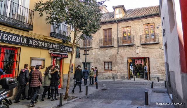 Casa de Francisco de Quevedo, Madri, Barrio de las Letras