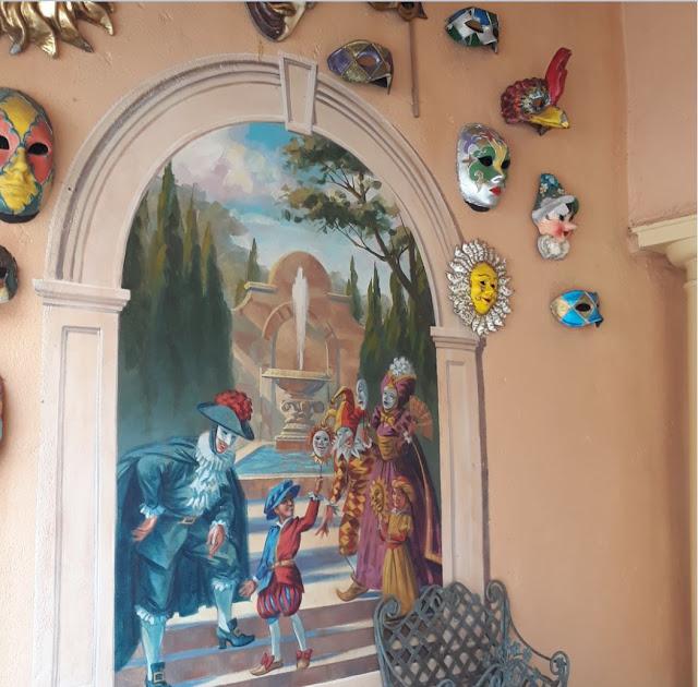Italy Venetian Masks on wall EPCOT