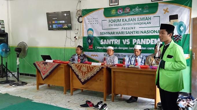 """UKM FKI STAIDHI Adakan Seminar Menyambut Hari Santri Nasional 2020 yang Bertajuk """"Santri vs Pandemi"""" (Menyikapi wabah dengan langkah dan cara Syariah)"""