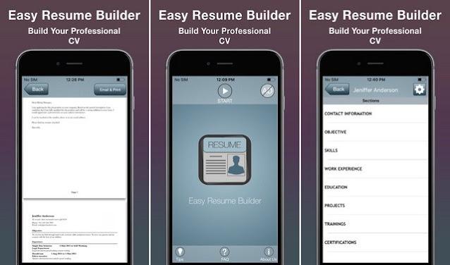 أفضل التطبيقات لإنشاء السيرة الذاتية CV للايفون