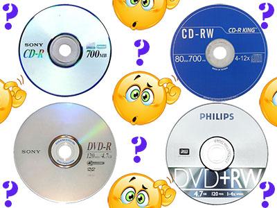 Perbedaan CD-R, CD-RW, DVD-R, dan DVD-RW