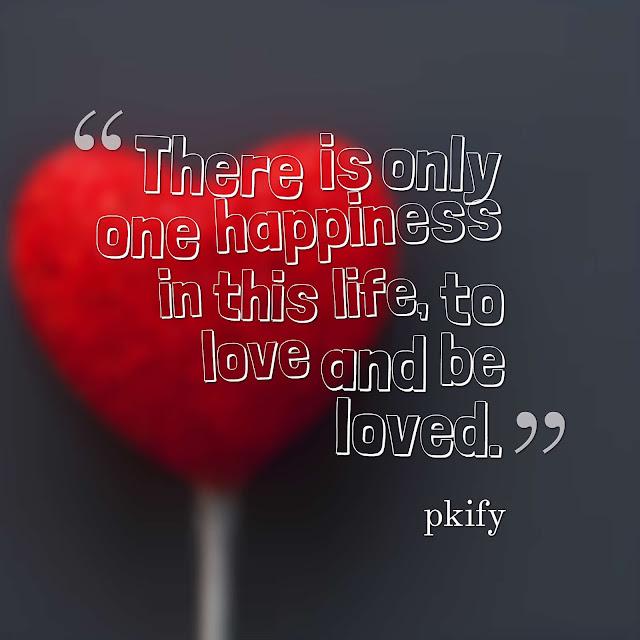 There Is Only One Happiness in This Life, to Love and Be Loved Love Quotes