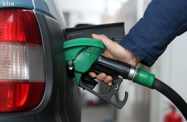 Od sjutra benzin jeftiniji šest do sedam centi