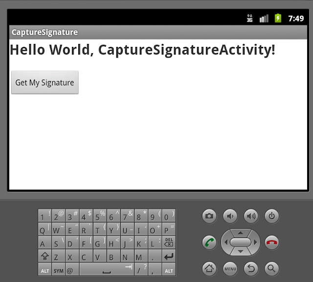 Signature capture in Android Phone with Version 2.3.3 API level 10