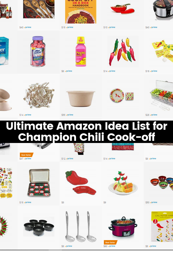 Ultimate Amazon Idea List for Champion Chili Cook-off