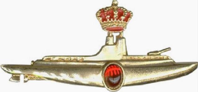 Distintivos de submarinos para oficiales (Armada Española).