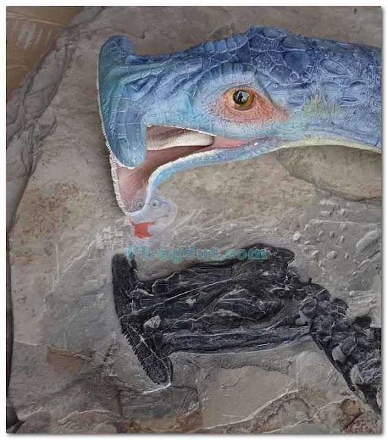Pemodelan mulut atopodentatus dari fosil reptil unicus