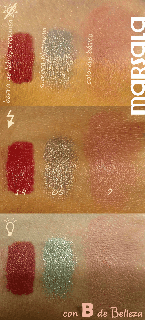 Swatches Marsala Mercadona