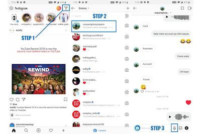 Begini Cara Mengirim Voice Message di Instagram