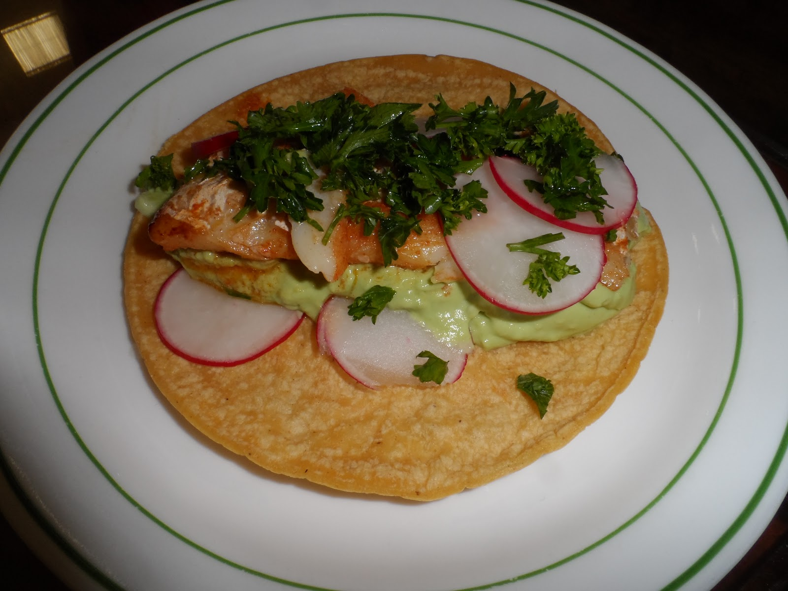 Cook with zee grilled fish tacos with avocado crema for Crema for fish tacos