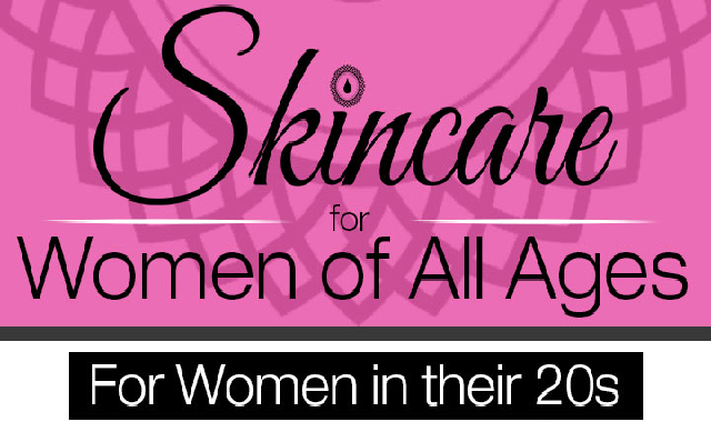 Skincare for Women of All Ages #infographic