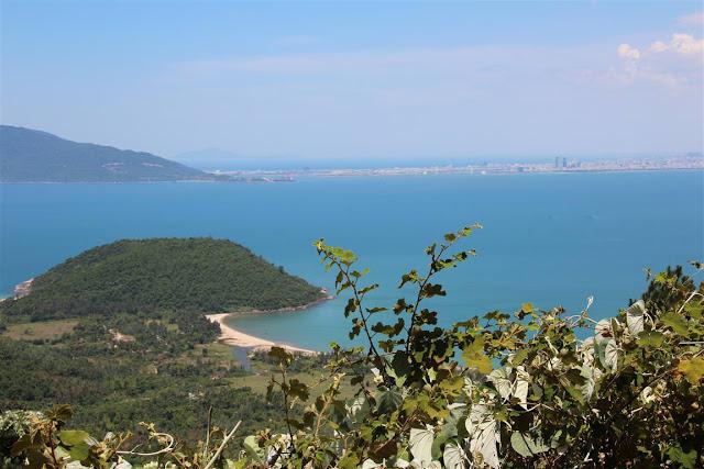 Panoramablick Wolkenpass Vietnam