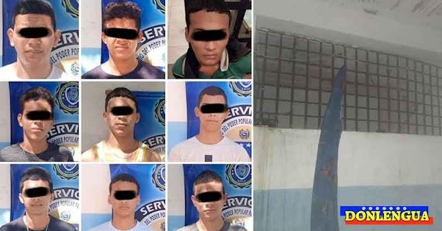 21 delincuentes adolescentes se fugaron de una cárcel en Nueva Esparta