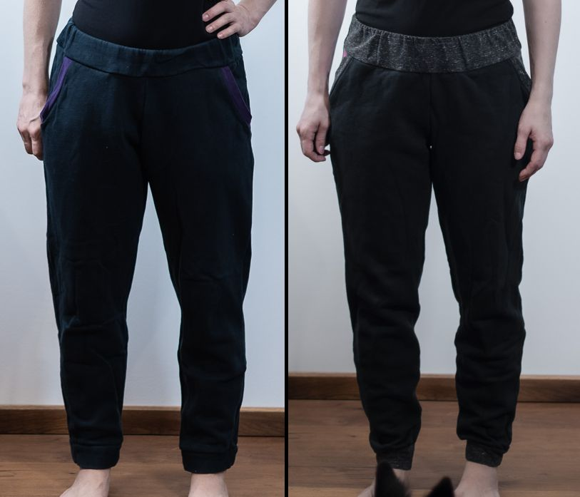 comparisation jj knit classic joggers sinclair patterns vs the hudson pants true bias sewing minn's things crotch